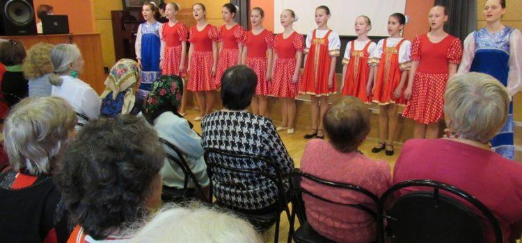 Выступление перед ветеранами в Московском Еврейском Общинном Доме